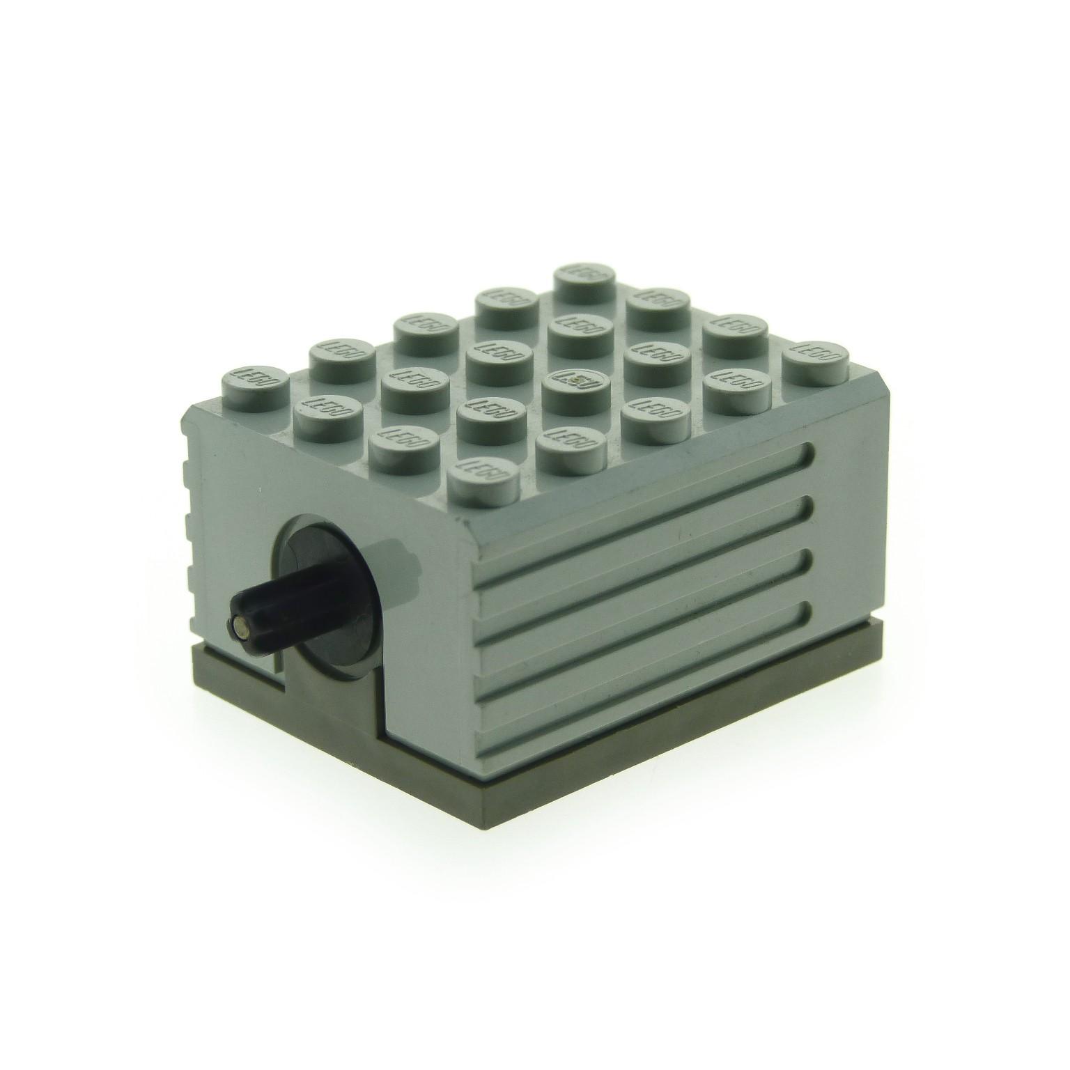 1 X Lego Brick Light Gray Electric Motor 9v 5 X 4 X 2 13 For Set