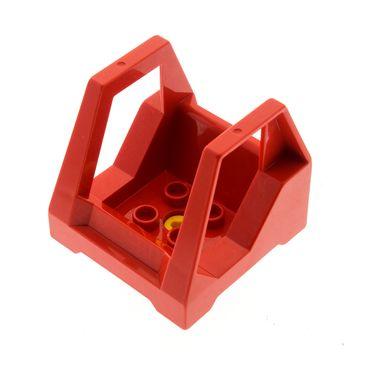 1 x Lego Toolo Duplo Führerhaus rot Kabine Kanzel Cockpit Bau Stein Fahrzeug Auto Bagger Baufahrzeug Set 2935 2940 2930 6293