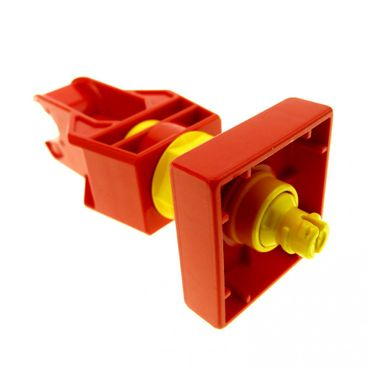 1 x Lego brick Red Duplo Toolo Arm Turning with Clip End 6663c01