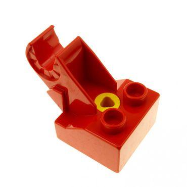 1 x Lego Toolo Duplo Stein rot 2x2 Arm Baustein Verbindung Verbinder Halterung Winkelform 6285c01