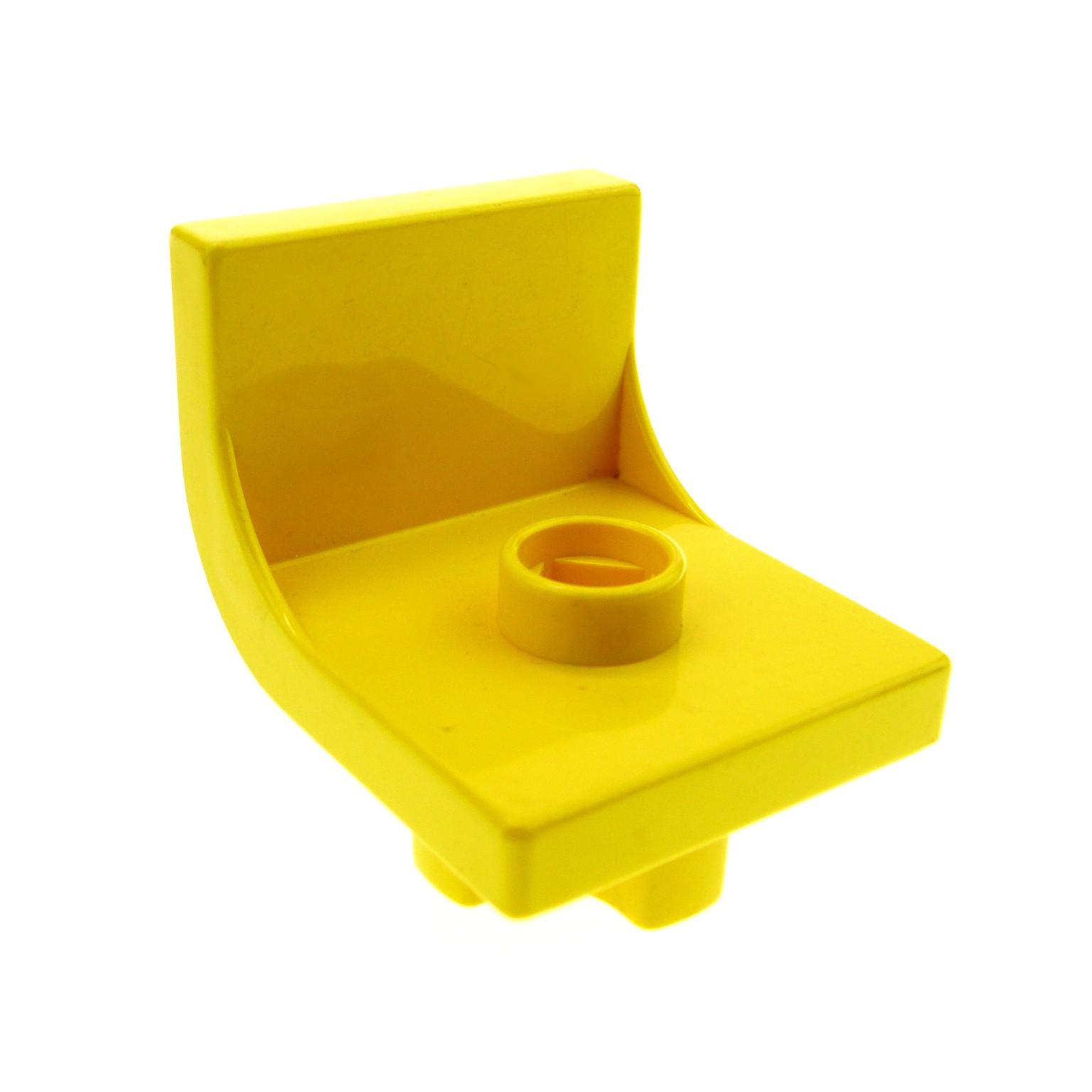 1 x Lego Duplo Stuhl gelb 1 Noppe Sitz Stühle Küche Wohnzimmer ...
