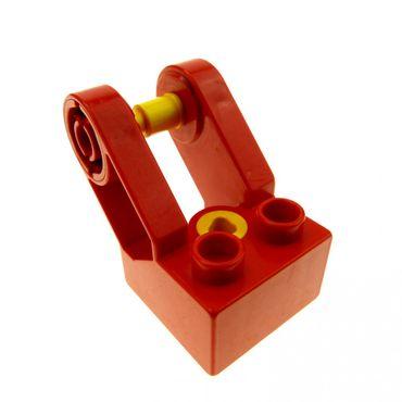 1 x Lego Toolo Duplo Stein rot 2x2 Arm Baustein Verbindung Verbinder Winkelform 6284c01