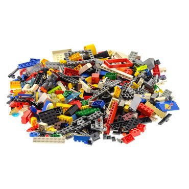 500 parts Lego brick Stones Basic Special Stones Kiloware 0,70 kg approx Wheels Doors plates windows animals parts can be included color mixed randomly