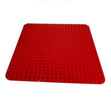 1 x Lego brick Red Duplo Baseplate 24 x 24 2598 4219838 353 4268 34278
