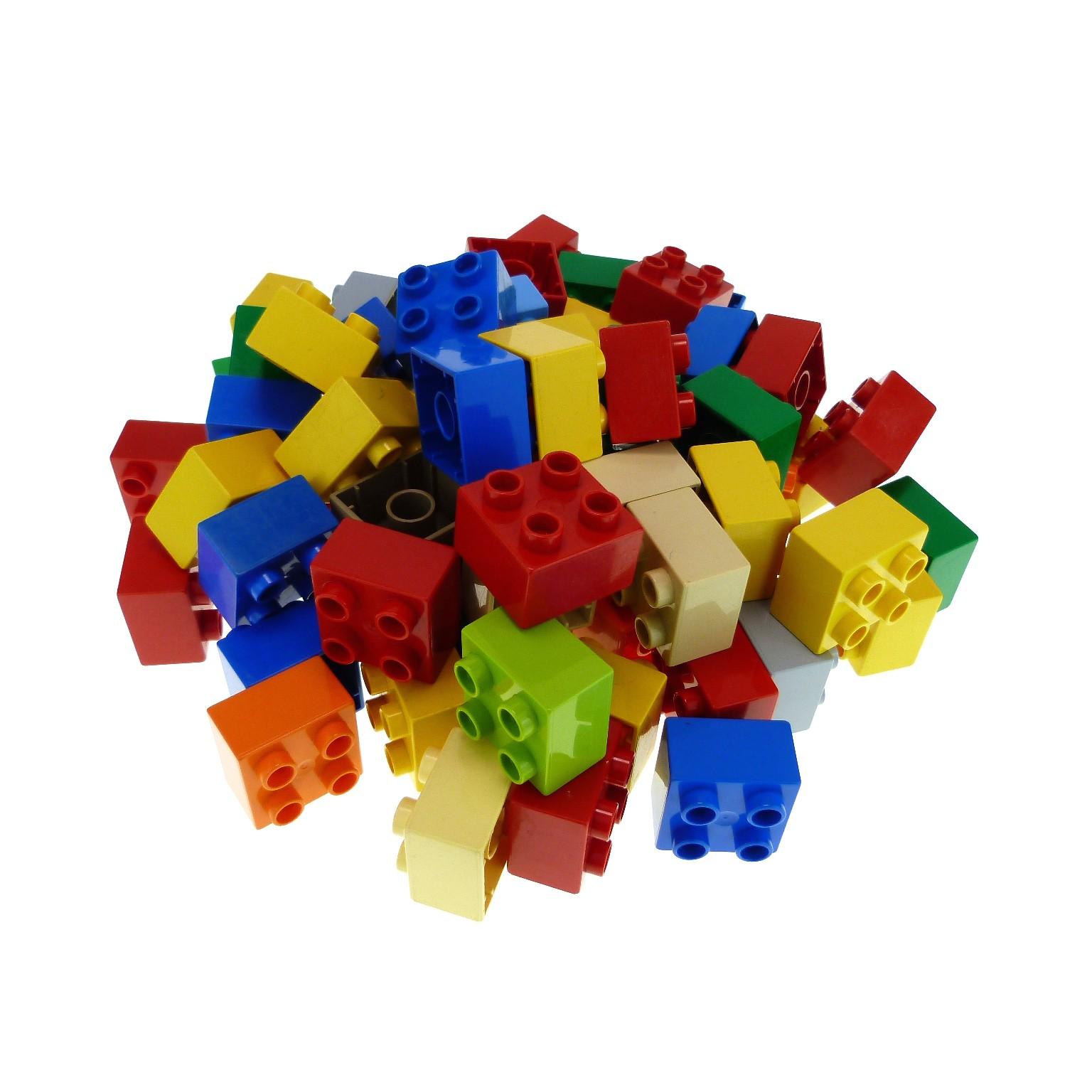 70 teile lego duplo 4er basic bausteine kiloware kg steine 2x2 noppen 3437 bunt gemischt. Black Bedroom Furniture Sets. Home Design Ideas