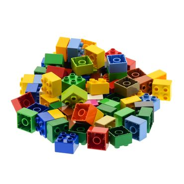 70 x LEGO DUPLO Brick 2x2 3437  BASIC BUILDING BLOCKS Stones 4er Kiloware  color mixed randomly