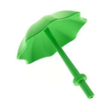 1 x Lego brick bright green Duplo Utensil Umbrella with Stop Ring 4171878 40554