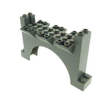 1 x Lego System Bogen Tor alt-hell grau 2 x 12 x 6 Mauerteil Mauer Wand Zinnen Turm Burg Castle für Set 6098 30272