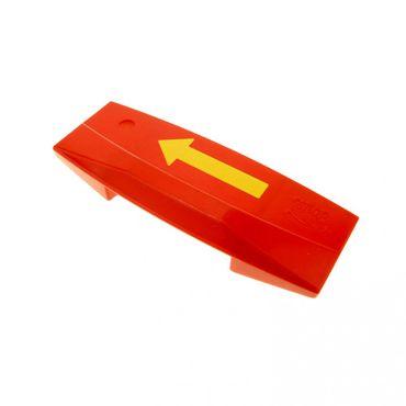 1 x Lego brick Red Duplo Train Intelli-Train Smart Brick with Yellow Arrow Pattern Set 2745 2933 5093 9166 2741 81917pb01