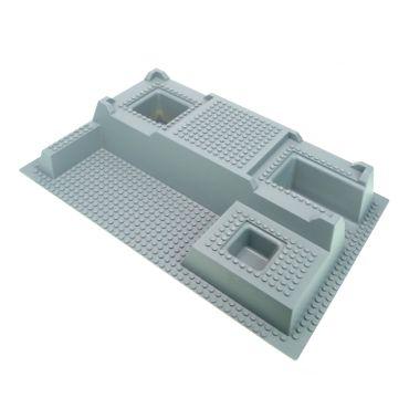 1 x Lego System 3D Bau Burg Platte neu-hell grau 32x48x6  32x48 Noppen 3 D Felsen 7892 7237 Police Krankenhaus 4259681 51542