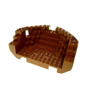 1 x Lego brick Brown Boat Hull Large Bow 12 x 16 x 5 1/3 Complete Assembly Top Color Brown Set 6285 6274 10040 2557c03