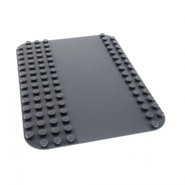 1 x Lego brick Dark Bluish Gray Duplo Baseplate 12 x 16 with Road Flat Surface Pattern for Set 4694 5601 4233801 50384