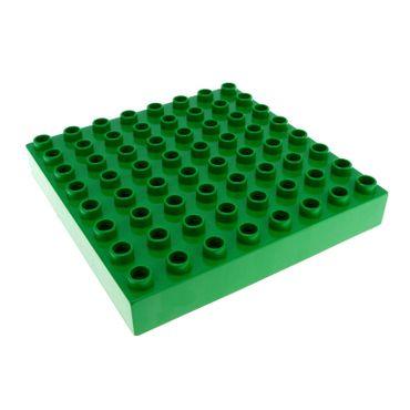 1 x Lego brick green Duplo Brick 8 x 8 31113