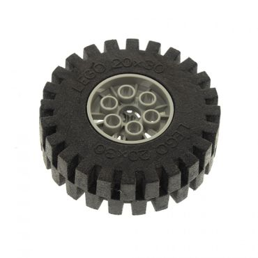 1 x Lego Technic Rad schwarz alt-hell grau 20x30 Räder Felge Technik Wheel and Tire 4267 4266c02
