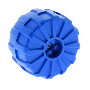 1 x Lego Technic Rad blau  54mm D. x 30mm hart Plastik Räder Technik Auto Fahrzeug für Set 6919 2515