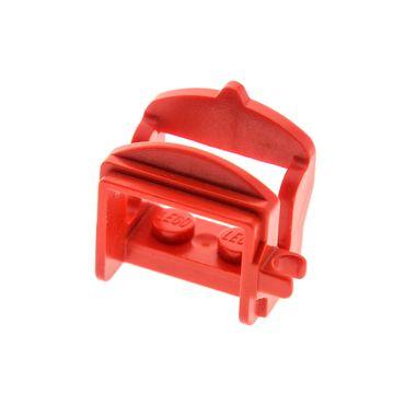 1 x Lego System Tier Pferd Sattel rot mit 1 Clips Pferdesattel Indianer Western Reiter Hof Castle Ritter 6081 6085 4491a