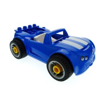 1 x Lego brick Blue Duplo Toolo Car Chassis Blue Body and White Interior for Set 5640 85345 31350c01 4544890 85353c02pb01