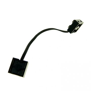 1 x Lego Electric Kabel schwarz 15 Noppen Typ 1 Anschluss Verbindung Verlängerung Eisenbahn Strom Elektrik Technic ca. 12 cm geprüft  5306bc015