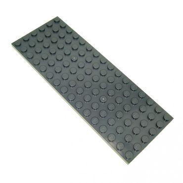 1 x Lego System Bau Platte 6 x 16 neu-dunkel grau 6x16 Noppen Basic Zug Grundplatte Train Eisenbahn 3027