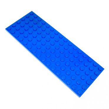 1 x Lego System Bau Platte blau 6x16 Noppen Basic Zug Grundplatte Train Eisenbahn 4611373 3027