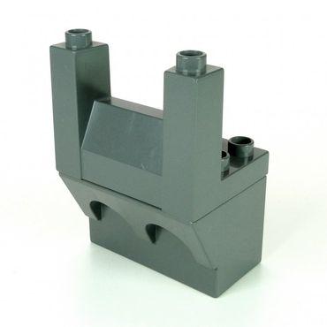 1 x Lego Duplo Zinne komplett neu-dunkel grau 3 x 4 x 2 Ritter Burg Schloss Mauer Element Ober Unter Teil 4777 51698 51732