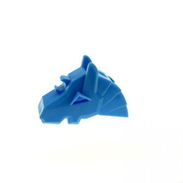 1 x Lego System Tier Pferde Kopfschmuck hell blau Kampf Helm Rüstung Pferd Zubehör König Castle Ritter 48492