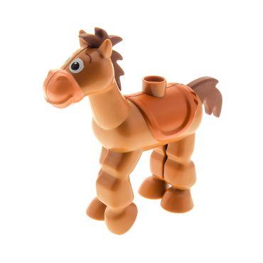 1 x Lego Duplo Toy Story Pferd Tier Bullseye Figur braun 5657 horse04c01pb01