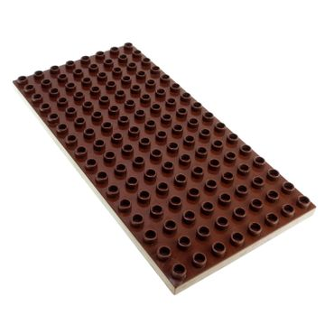 1 x Lego brick Reddish Brown Duplo Plate 8 x 16 for Set Knight´s Castle 4777 4251259 6490 61310