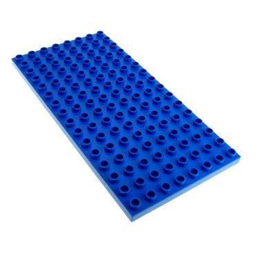 1 x Lego Duplo Bau Basic Platte blau 16 x 8 Noppen 8x16 für Set Burg Ritter 4776 Polizei Station 4965 9229 4246963 61310 6490