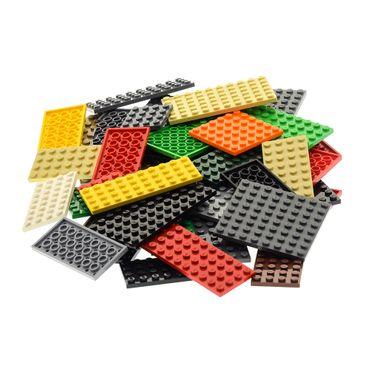50 x Lego System City Platten Platte Grösse Farbe zufällig bunt gemischt Bauplatte Grundplatten   – Bild 1