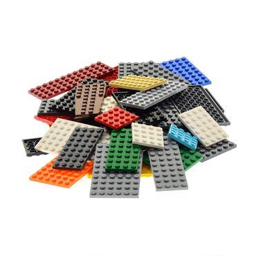 50 x Lego System City Platten Platte Grösse Farbe zufällig bunt gemischt Bauplatte Grundplatten   – Bild 3