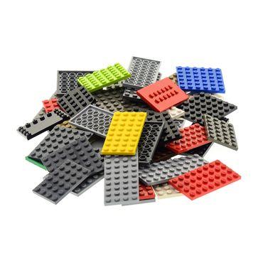 50 x Lego System City Platten Platte Grösse Farbe zufällig bunt gemischt Bauplatte Grundplatten   – Bild 4