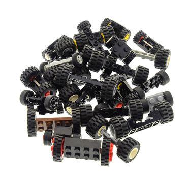 30 x Lego brick axles with 60 wheels shape and color mixed randomly – Bild 2