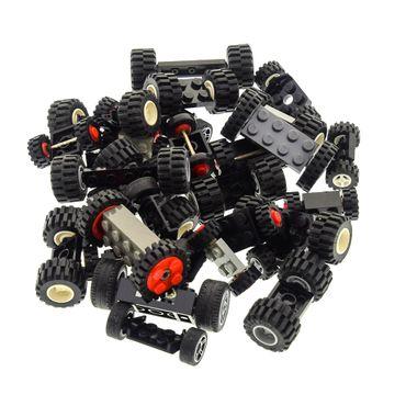 30 Achsen mit 60 Rädern Rad Räder Form und Farbe zufällig gemischt Lego – Bild 4