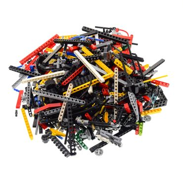 1 KG LEGO TECHNIC Technik ca. 900 Teile zufällig bunt gemischt z.B. Pins Lochstangen Steine Liftarme Räder Kiloware  – Bild 1
