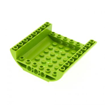 1 x Lego brick lime Slope, Curved 8 x 8 x 2 Inverted Double 8960 54091