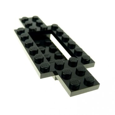 1 x Lego brick black Vehicle Base 4 x 10 x 2/3 with 4 x 2 Recessed Center with Smooth Underside 4114131 30029
