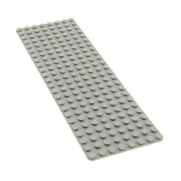 1 x Lego System Bau Basic Platte alt-hell grau 8x24 24 x 8 Noppen Grundplatte Beton Strasse für Set 6364 6362 3497