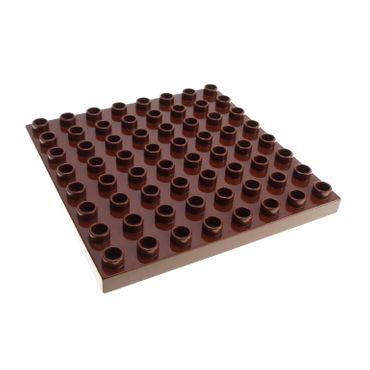 1 x Lego Duplo Bau Basic Platte reddish rot braun 8x8 Noppen 8 x 8 Zoo Puppenhaus Big Farm 5649 4566605 51262
