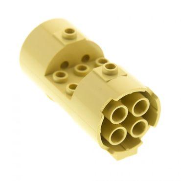 1 x Lego System Zylinder beige tan 3 x 6 x 2 2/3 3x6x2 2/3 Noppen leer Horizontal Turbine Triebwerk Düse Set Star Wars 7155 30360