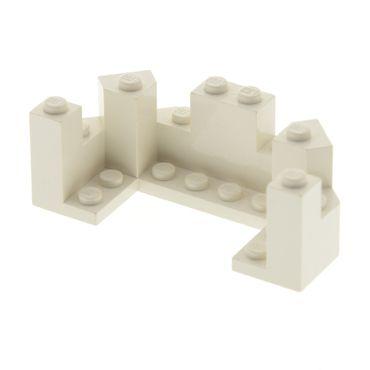1 x Lego brick cream white Castle Turret Top 4 x 8 x 2 1/3 6066