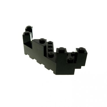 1 x Lego brick black Castle Turret Top 7 x 7 Corner 6072