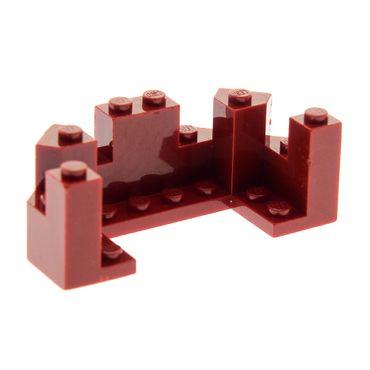 1 x Lego System Mauer Teil dunkel rot 4 x 8 x 2 1/3 Zinne Turm Burg Castle Piraten 8759 7093 6066