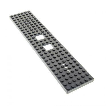 1 x Lego System Bau Platte 6 x 28 neu-dunkel grau 28 x 6 Noppen 6x28 Zug Platte Train Eisenbahn Truck Chassis (3 Löcher an jedem Ende) 92339