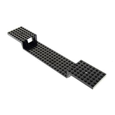 1 x Lego System Fahrgestell Zug Platte schwarz 6x34 mit Boden Röhren Eisenbahn Wagon Train Base 34 x 6 Noppen für Set 4560 4561 2972