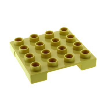 1 x Lego brick Tan Duplo Loading Pallet 4 x 4 Indented Side 3297 4685 4988 3298 47415
