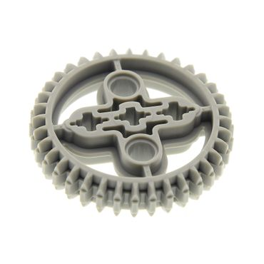 1 x Lego brick light gray Technic, Gear 36 Tooth Double Bevel 10076 8558 32498