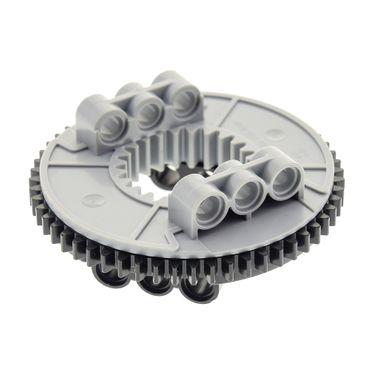 1 x Lego Technic Drehkranz flach schwarz neu-hell grau Turntable Technik rund Rad Zahnrad Typ2 45560 9397 48168 48452cx1
