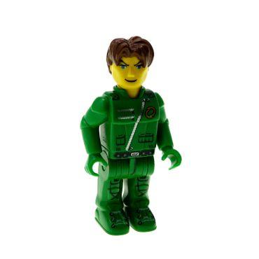 1 x Lego brick  Minifigs 4 Juniors Jack Stone - Green Jacket 4617 js021