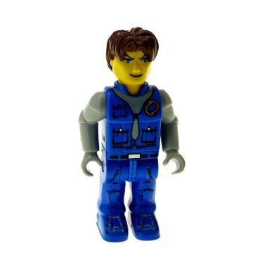 1 x Lego brick  Minifigs 4 Juniors Jack Stone - Blue Jacket Blue Pants Gray Shirt 4609 4657 js002